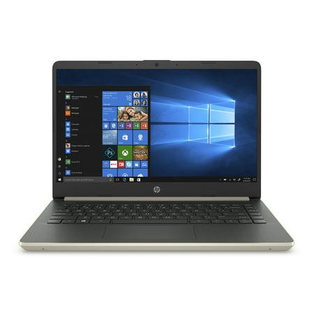 HP 14 Laptop, Intel Core i3-1005G1, 4GB SDRAM, 128GB SSD, Pale Gold, 14-dq1038wm