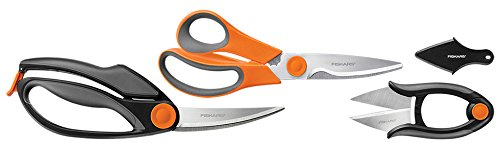 3 Piece Heavy-Duty, All-Purpose Fast-Prep Kitchen Shears Set, Ideal for cutting meat, bones, vegetables,... by