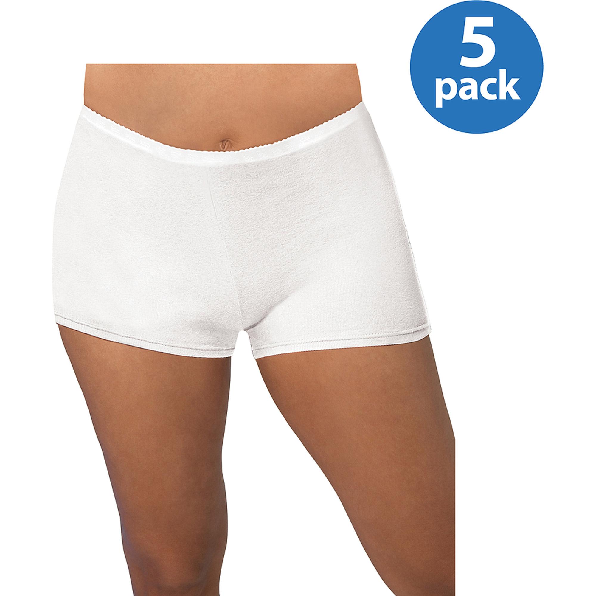 Just My Size Cotton Boyshort Panties 5 Pack