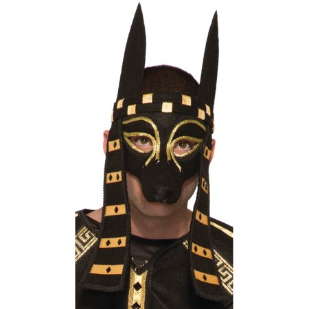 adults mythical creature egyptian god anubis mask costume accessory