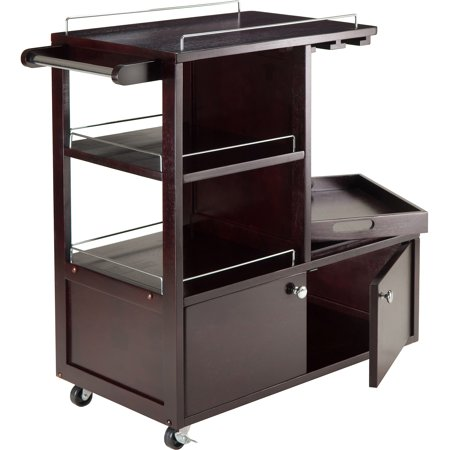 Entertainment Beverage Cart (Winsome Wood Galen Entertainment Cart with Serving Tray,)