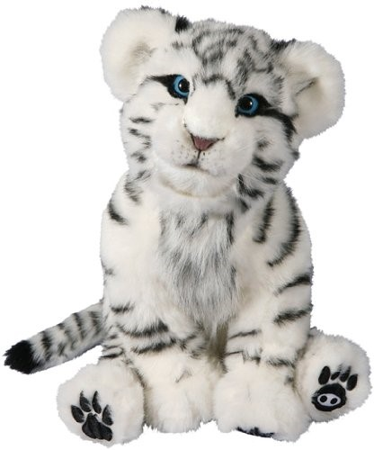 Alive Cubs Interactive Plush Cub White Tiger Cub By Wowwee