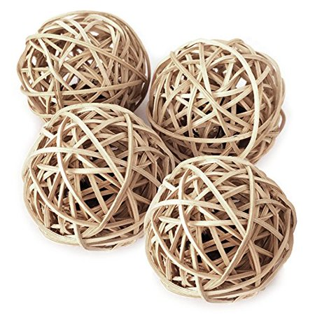 Catify Silvervine Gall Fruits in Rattan Ball Pack of 4 by Best Pet (Best Dental Implant System)