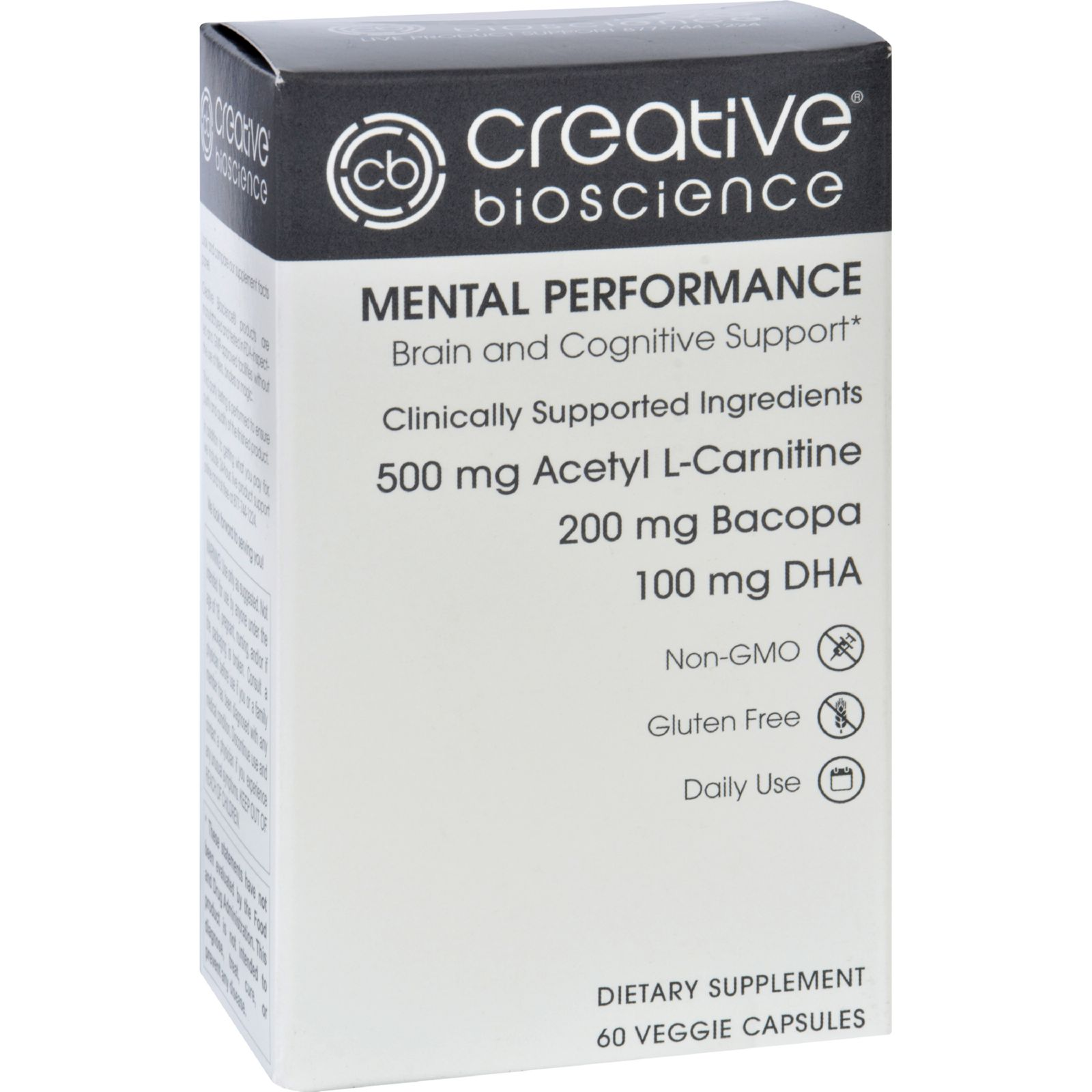 Creative Bioscience Mental Performance Dietary Supplement, 60 Ct