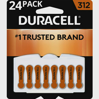 Duracell Hearing Aid Batteries with Easy-Fit Tab, Size 312, 24 Pack