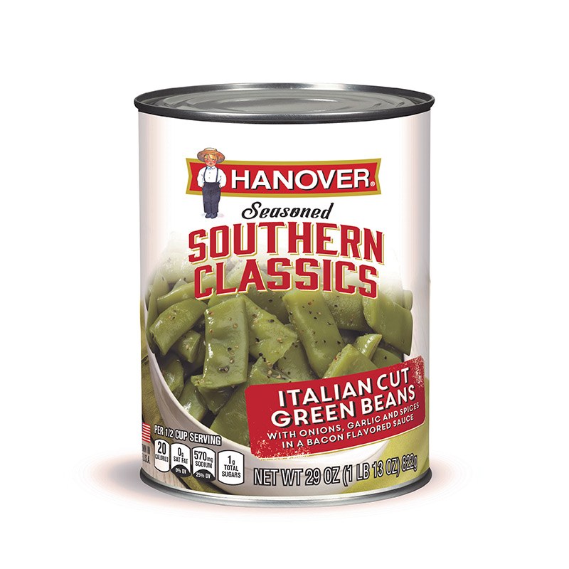 Hanover Foods Southern Classics Italian Cut Green Beans, 29oz
