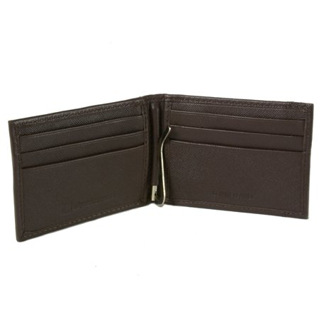 Alpine Swiss Mens Bifold Money Clip Spring Loaded Leather ID Front Pocket Wallet ()
