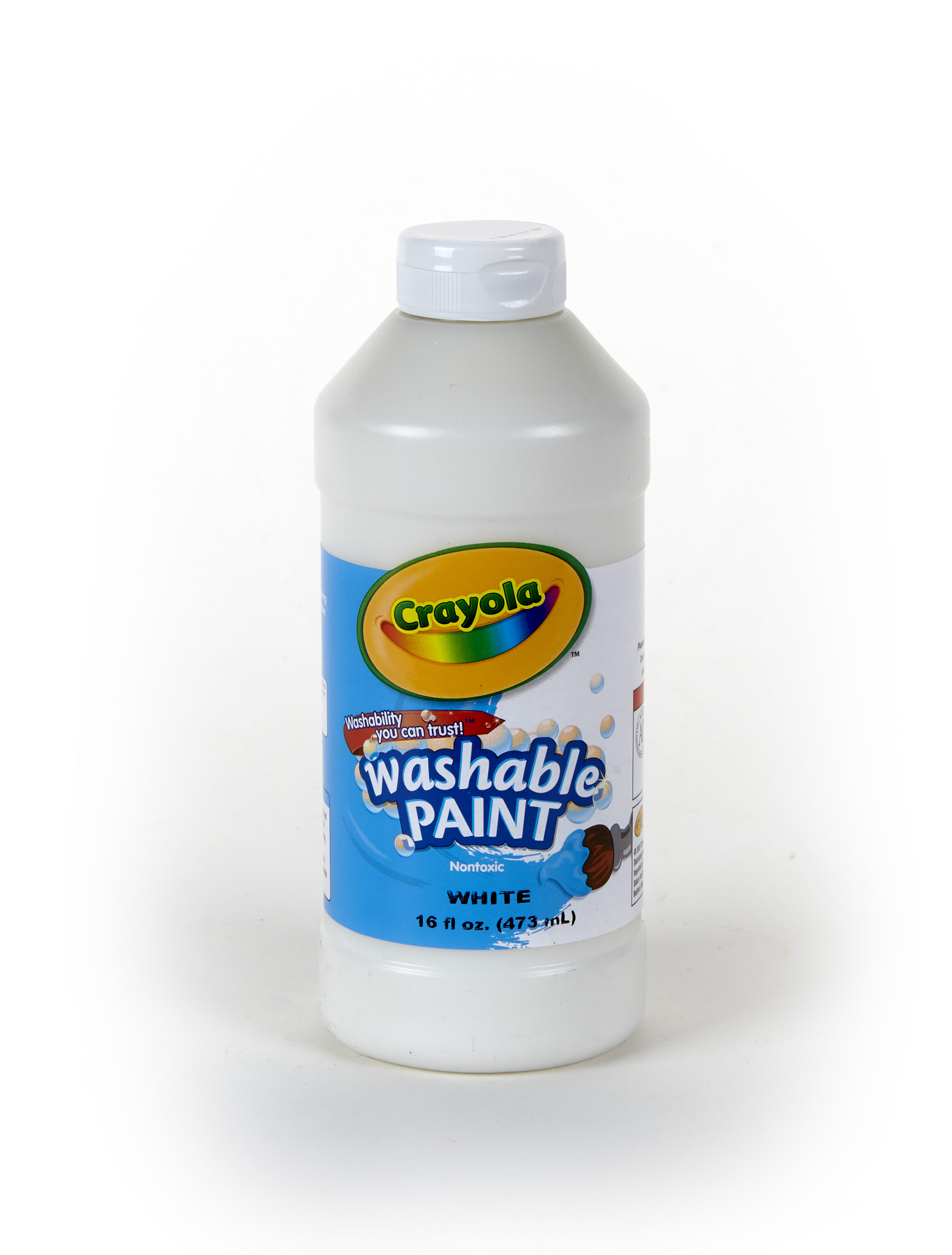 Crayola Kid S White Washable Tempera Paint In 16 Oz Bottle With Easy Dispensing