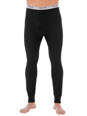 Fruit of The loom Big Men's Soft Waffle Waffle Baselayer Crew Pant Thermal underwear for Men