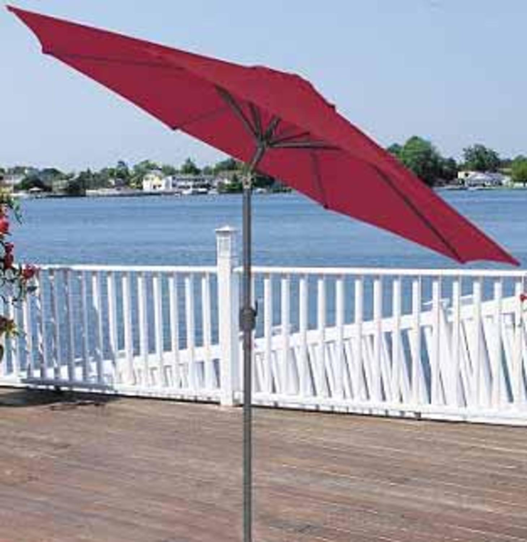 9 Outdoor Patio Market Umbrella With Hand Crank And Tilt Burgundy