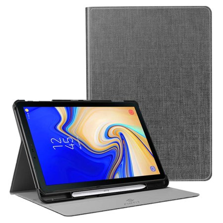 Multiple Holder - Slim Shield Case for Samsung Galaxy Tab S4 10.5 with S Pen Holder, Fintie Multiple Angle Stand Cover Denim Charcoal