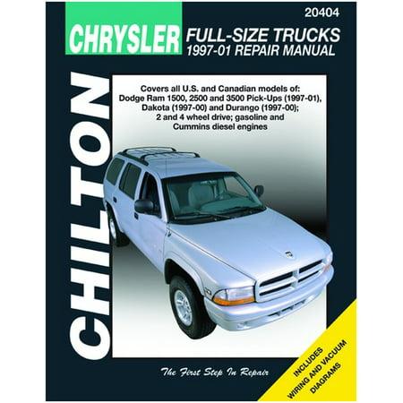 Dodge Truck Manual - Chilton Dodge Full-Size Trucks 1997-2000 Repair Manual (20404)