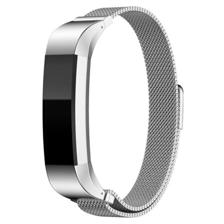 Stainless Steel Magnetic Milanese Loop Bracelet Replacement Watch Band For Fitbit Alta Hr Fitness Tracker