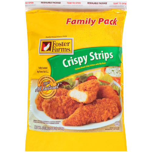 Foster Farms Crispy Strips Chicken Breast Strip Fritters, 40oz