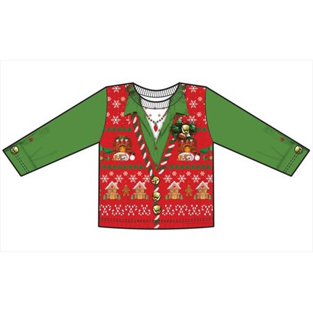 Creative Halloween Shirts (Faux Real F125888 Faux Real Shirts Toddler Ugly Xmas Vest -)