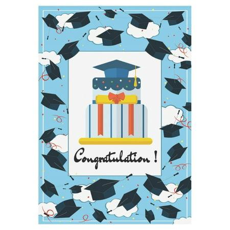 MYPOP Congratulation Graduation Cap Garden Flag Outdoor Banner 28 x 40 inch - Graduation Flags