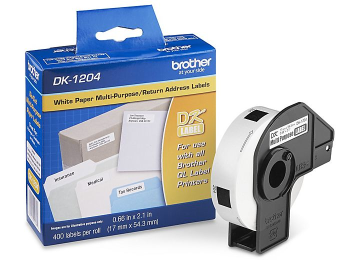 12 Rolls for Use with QL Label Printers Brother Genuine DK-1202 Die-Cut Shipping Paper Labels 300 Labels per Roll