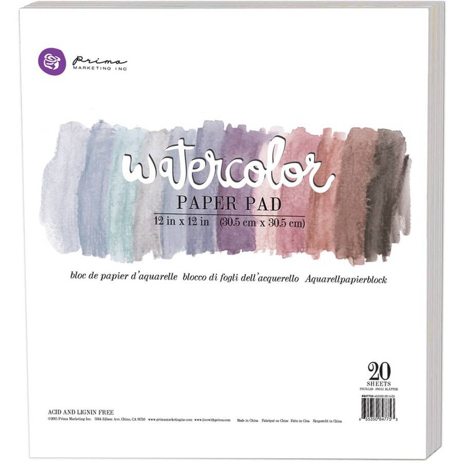 "Watercolor 140lb Cold Press Paper Pad, 12"" x 12"", 20pk"