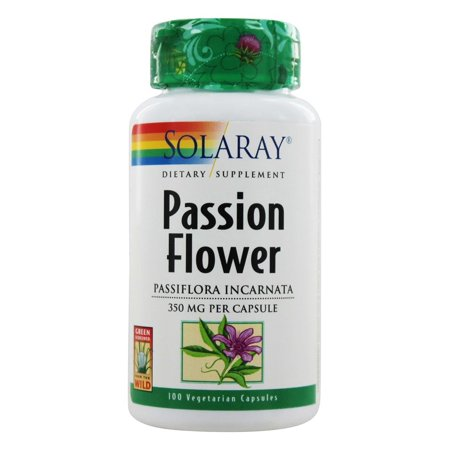 Solaray Passion Flower Aerial Extract 350mg | Healthy Relaxation & Focus Support | May Help Calm Mental Chatter & Restlessness | 100 VegCaps