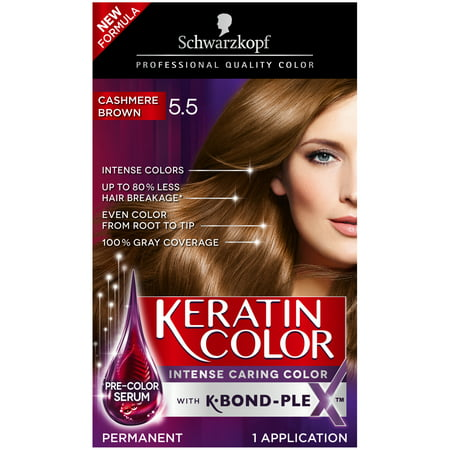 Schwarzkopf Keratin Color Permanent Hair Color Cream, 5.5 Cashmere Brown Bobbi Brown Creamy Color