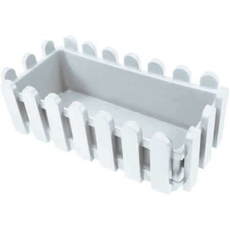 ALEKO PP320WH White Thermoformed Picket Fence Nursery Plastic Garden Seedlings Pots for Plants and Flowers