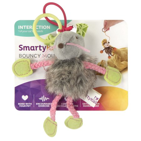 Cigar Cat Toy - SmartyKat® Bouncy Mouse™ Bungee Cat Toy