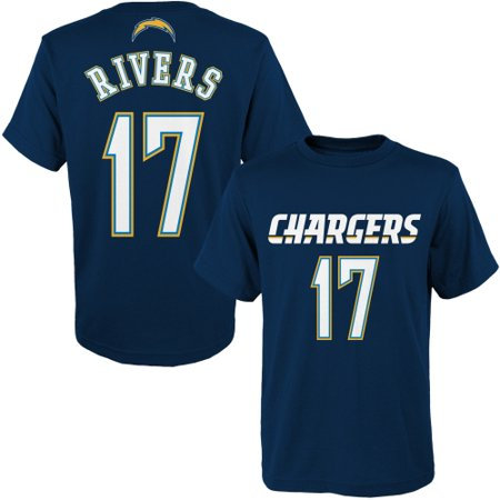 Youth Navy Blue Player - Philip Rivers Los Angeles Chargers Youth Primary Gear Player Name & Number T-Shirt - Navy Blue - Yth XL