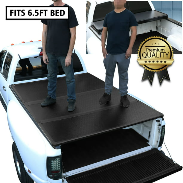 For 2007 To 2018 Tundra 6 5ft Short Bed Hard Solid Tri Fold Tonneau Cover Walmart Com Walmart Com