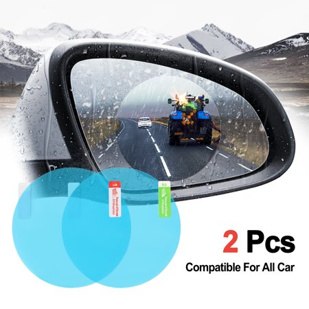 Agptek 2pcs Car Rearview Mirror Film Car Rearview Mirror Anti Water