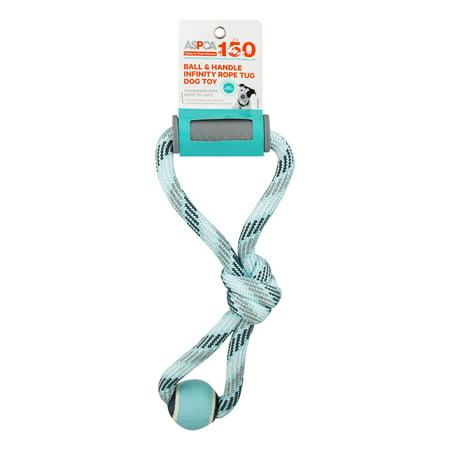ASPCA Ball & Handle Infinity Rope Tug Dog Toy Blue, 1.0 CT](Dog Robe)