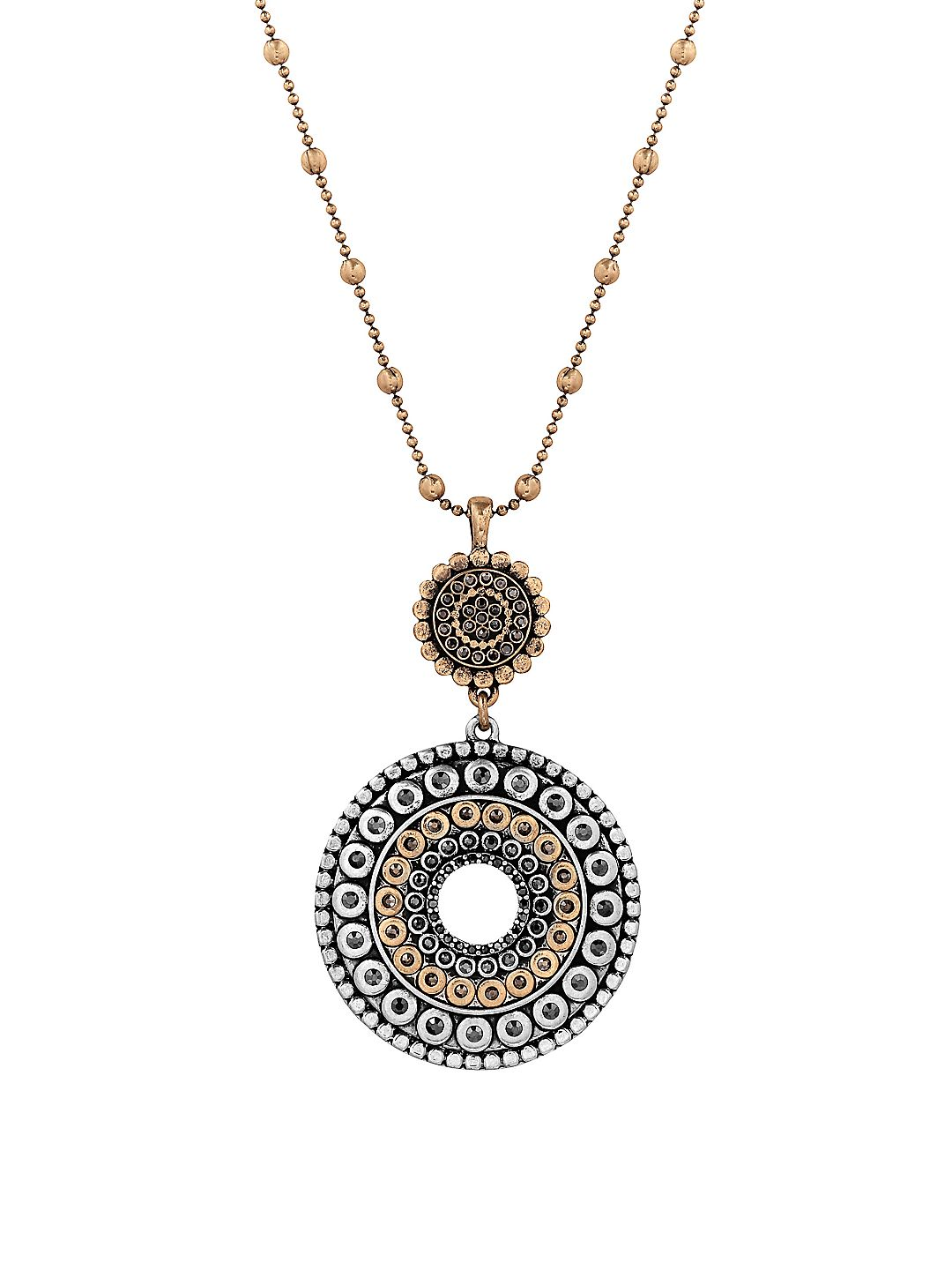 Pave Dream Tribal Pendant Necklace
