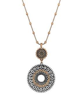 Pave Dream Tribal Pendant Necklace