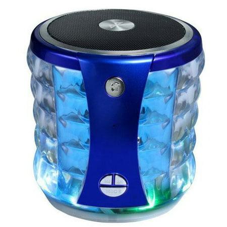 Portable Mini Wireless Speaker w/ Flashing Lights for BLU Vivo One Plus (2019), Go, XL4, XI, C6L, Studio Mega (2018)