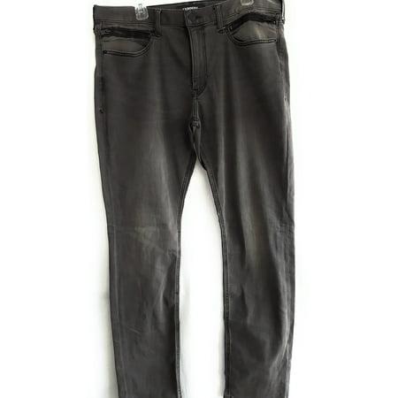 Express Men's Slim Stretch Jeans, Black, W34 - Express Discount