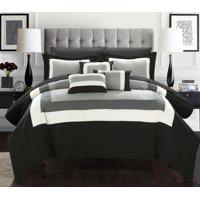 10-Piece Luxury Colorblock Comforter Bedding Set with BONUS Sheet Set