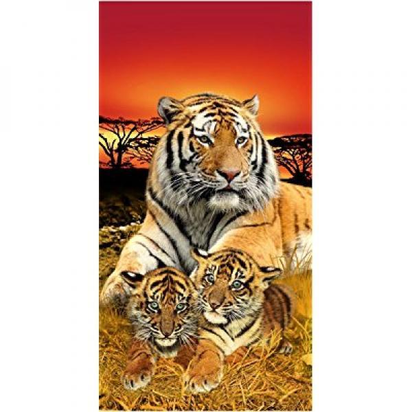 Bengal Towel Tiger Family Life of Pi Wonder Beach Towel 6836