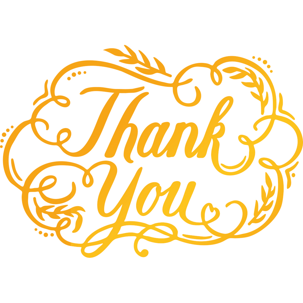 "Ultimate Crafts Classic Sentiments Hotfoil Stamp 3.5""X2.5""-Thank You"