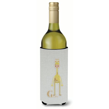 Alphabet Giraffe (Alphabet G for Giraffe Wine Bottle Beverge Insulator Hugger BB5732LITERK )