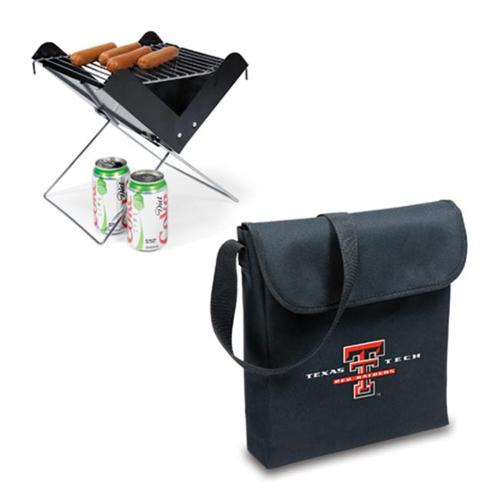 Picnic Time PT-774-00-175-574-0 Texas Tech Red Raiders V-Grill in Black