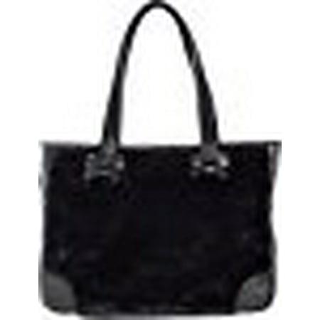 Sourpuss Brand - Black Faux Fur Sure - Tote Bag Purse (Sourpuss Handbags)
