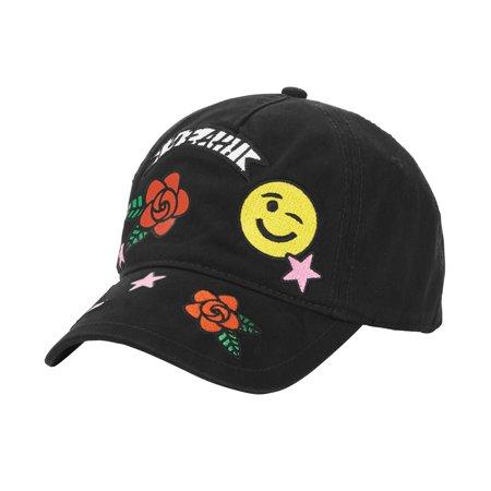 Emojinuity - Emoji Wink Patch Snapback Baseball Cap - Walmart.com b18b3051666