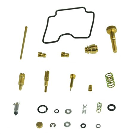 , AU-07435, Carb Repair Kit 2000-2002 Suzuki Quadrunner 250 2x4 & 4x4,  Manufactured by Factory Spec Includes all items pictured to repair your