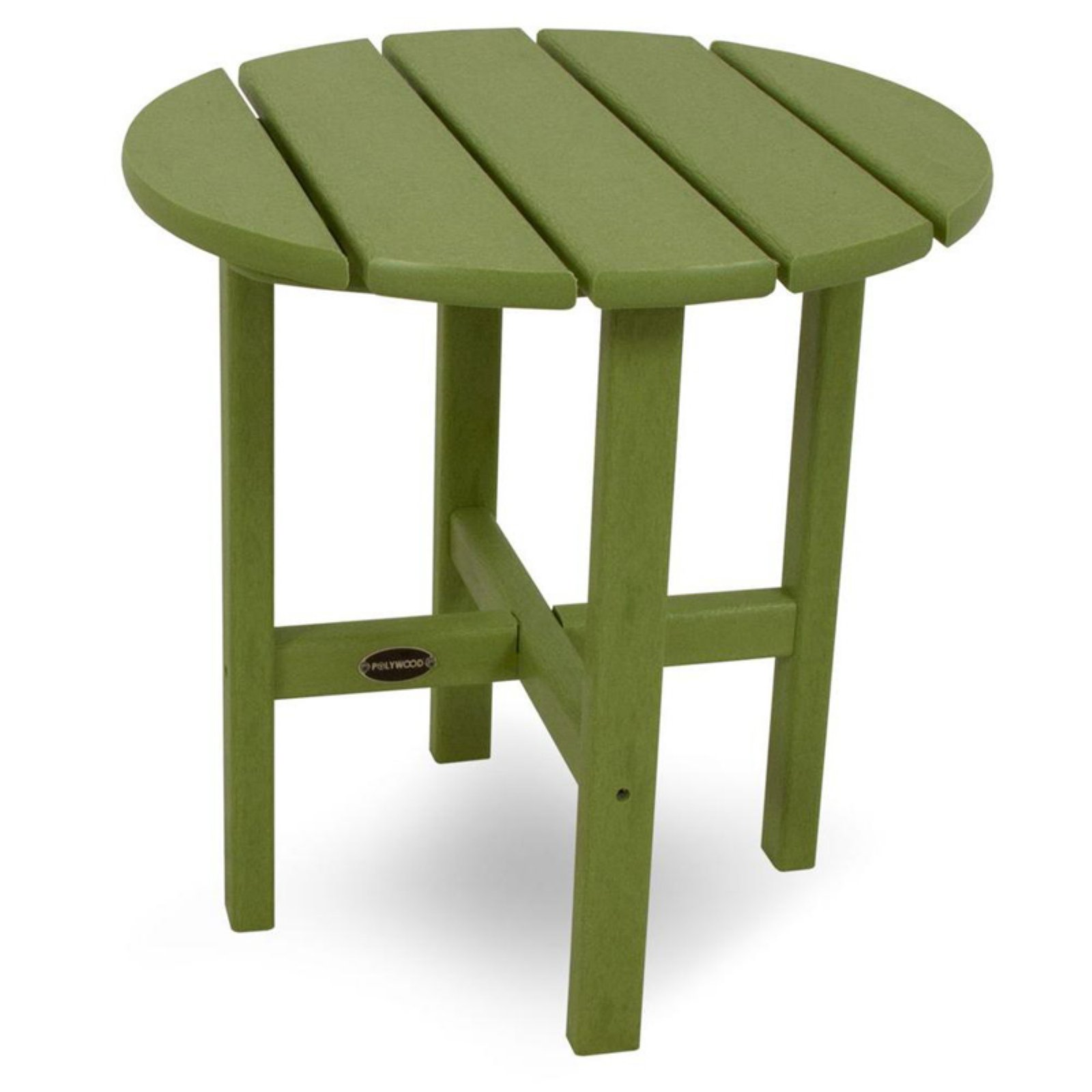 POLYWOOD® Vineyard Recycled Plastic 18 in. Round Side Table