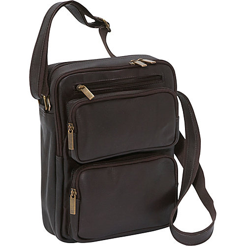 Le Donne Leather Multi Pocket iPad / eReader Day Bag