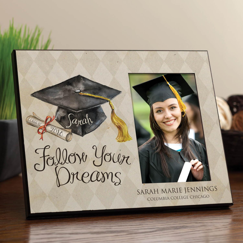 Personalized Follow Your Dreams Graduation Frame Walmart Com Walmart Com