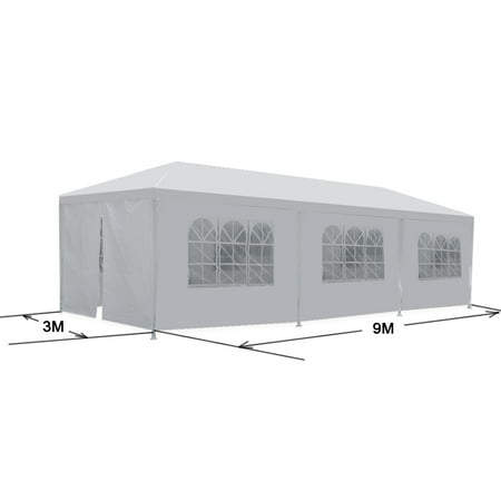 ZENSTYLE 10'x30' White Outdoor Gazebo Canopy Wedding Party Tent 8 Removable Walls