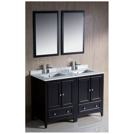 Traditional double sink bathroom vanity in espresso finish - Walmart bathroom vanities with sink ...