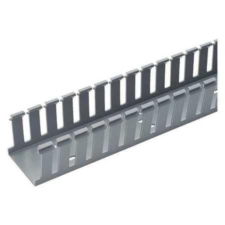 Wire Duct,Wide Slot,Gray,2.25 W x 3 D PANDUIT G2X3LG6