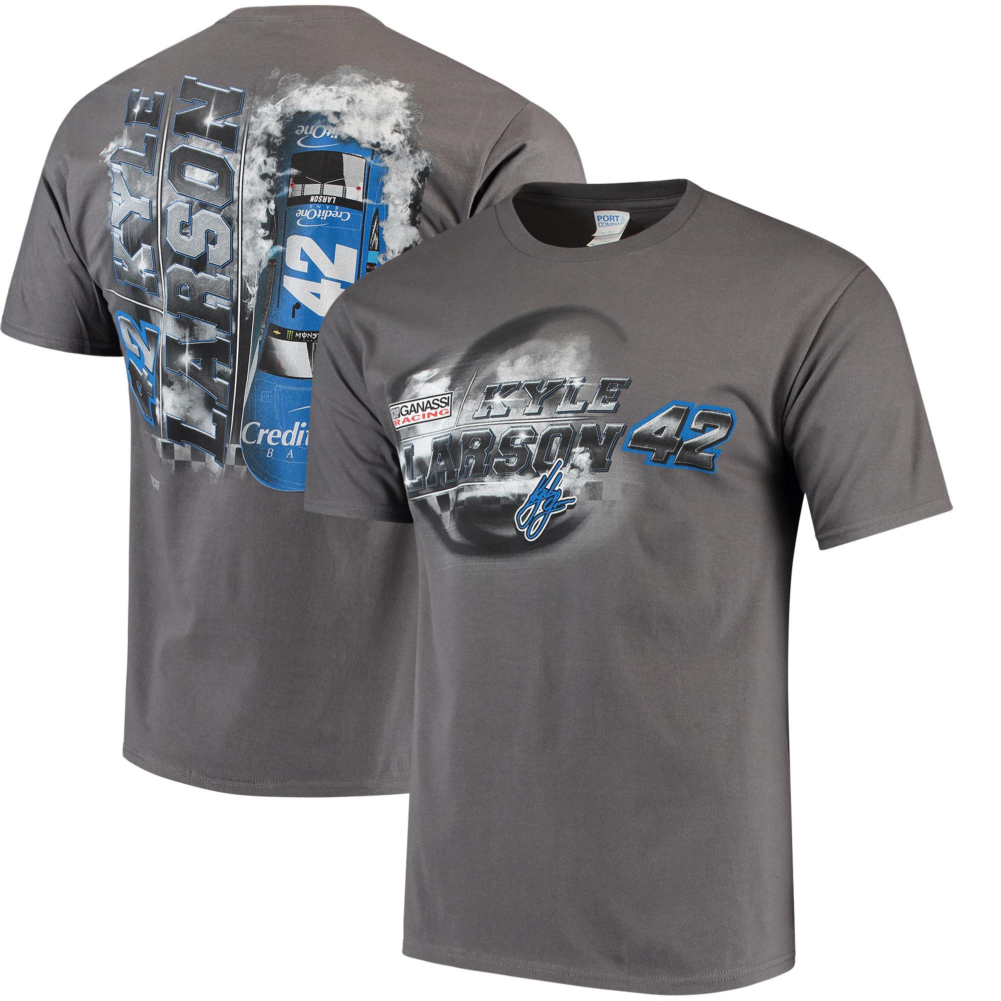 Kyle Larson Steel Thunder Logo T-Shirt - Charcoal
