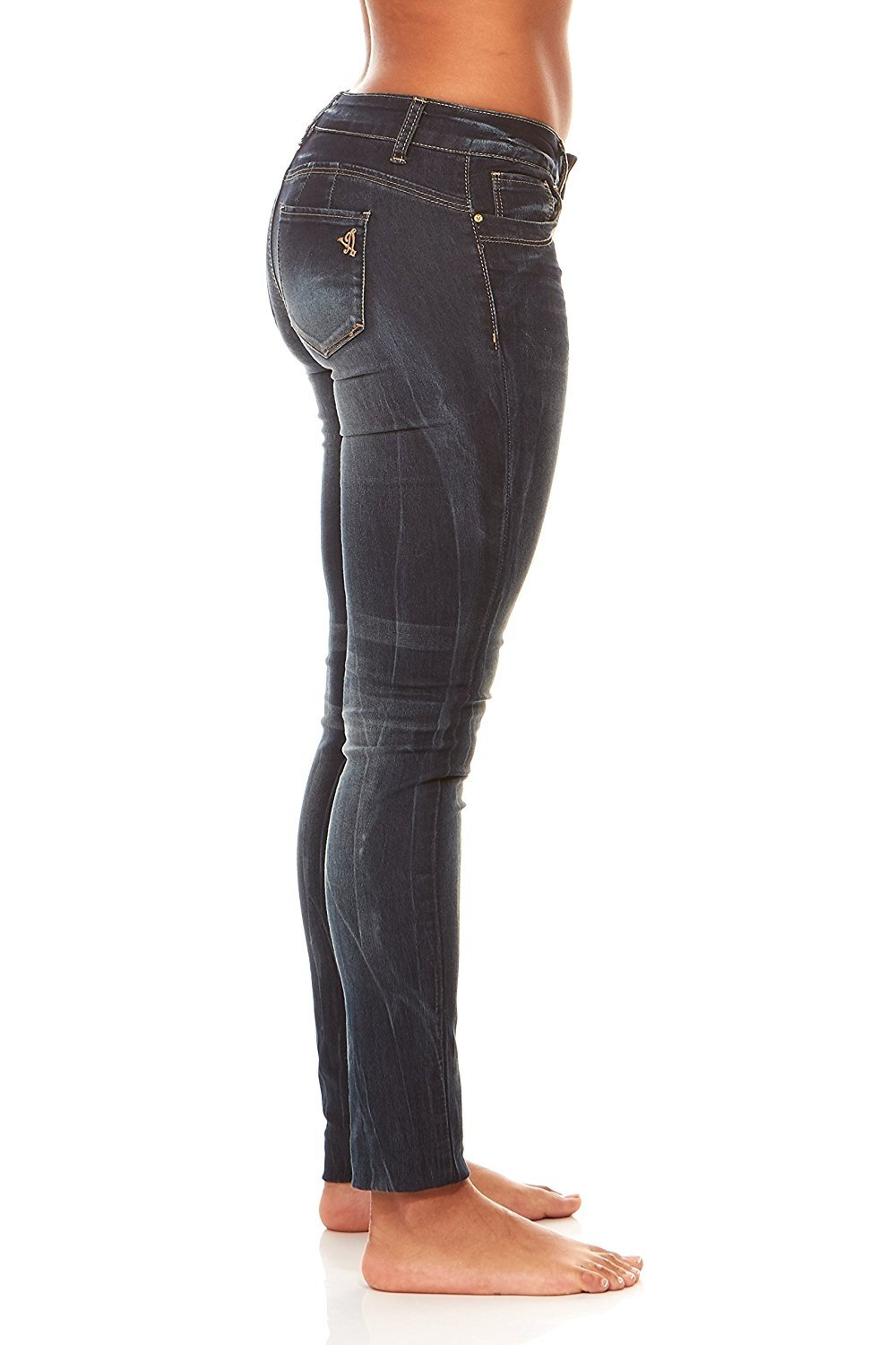 Details about  /VIP Jeans for Women Skinny Slim Fit Butt Lift Stretchy ankle Acid Washed